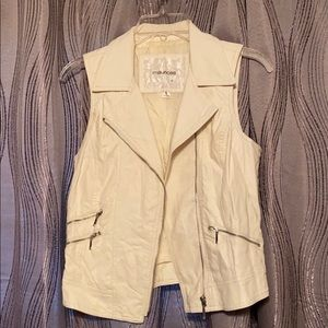 Maurice's White Leather Vest